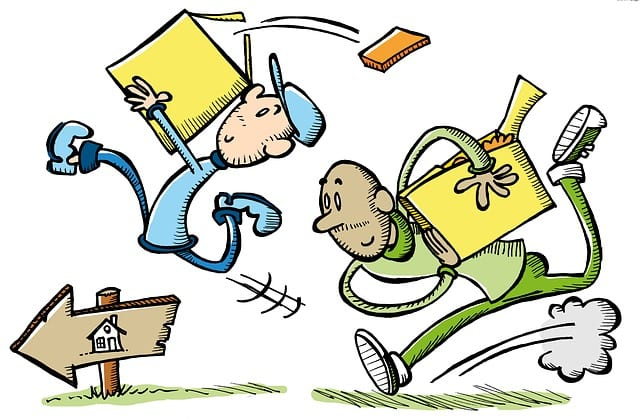 packing for self-storage - cartoon image