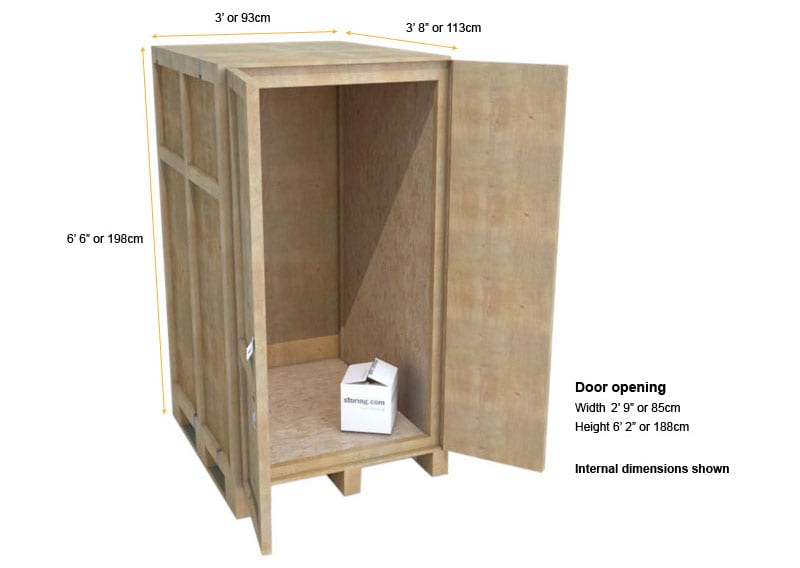 small cheap self storage unit