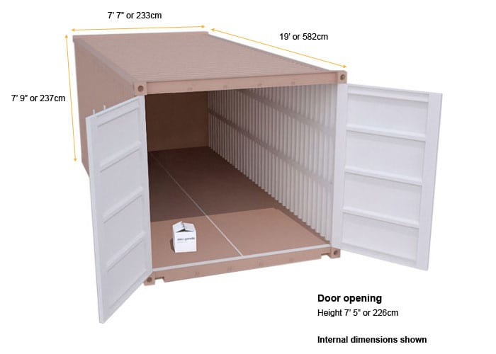 large cheap self storage unit